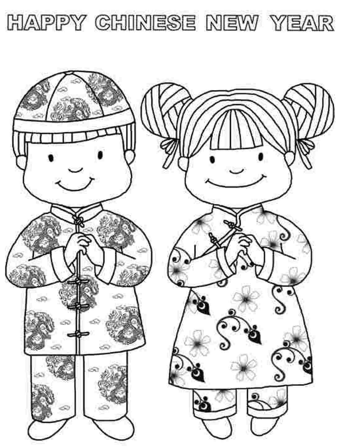New Year Coloring Chinese New Year Coloring Pages