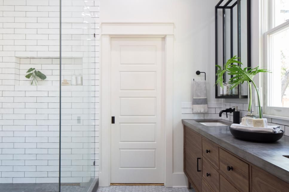 Fixer Upper A Rock Star Renovation Literally Hgtv S Fixer Upper With Chip And Joanna Gaines Hgtv Fixer Upper Bathroom Fixer Upper Modern Master Bathroom