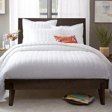 Angled-Leg Bed - Chocolate #westelm | bedroom | Pinterest | Camas y ...