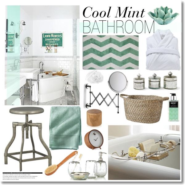 cool mint bathroom by kimberley wright on polyvore featuring interior interiors interior design