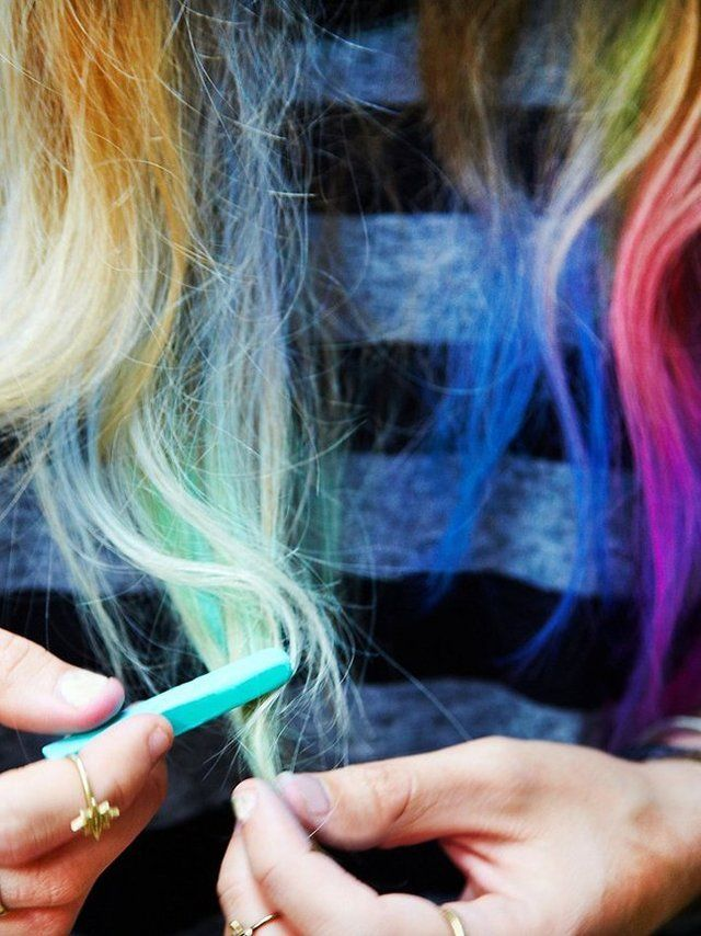 Complete set of 24 different colored hair chalks. Easy to apply to hair and easy to wash out! This product has not been tested on animals!