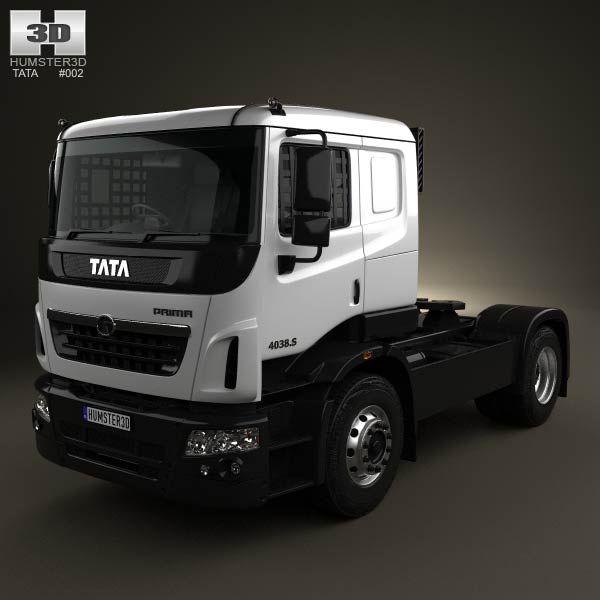 3d Model Of Tata Prima Tractor Racing Truck 2009 Trucks Tractors Tata