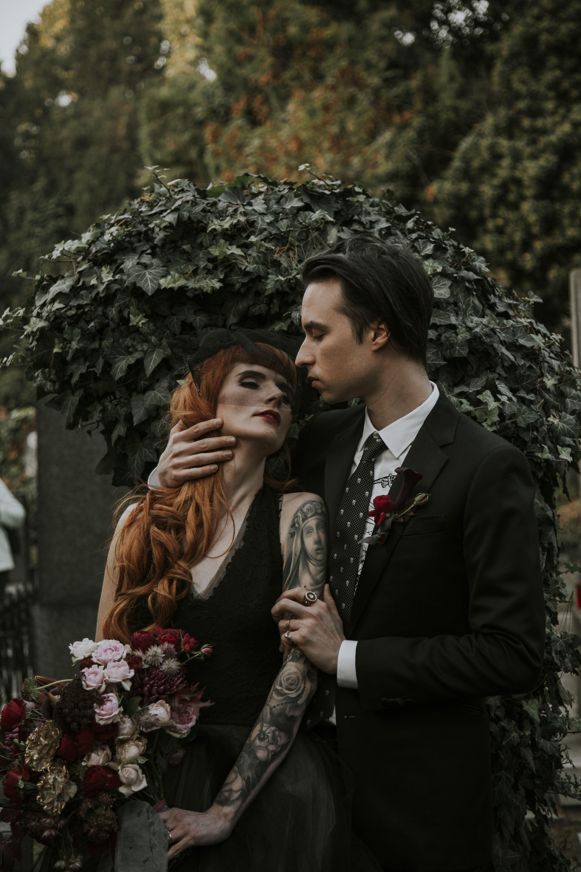 Goth Wedding  Goth wedding, Edgy wedding, Dark wedding