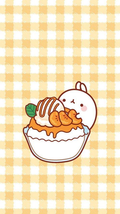 Color Food And Kawaii Image Kawaii Wallpaper Molang Wallpaper Kawaii Drawings Chibi anime food wallpaper