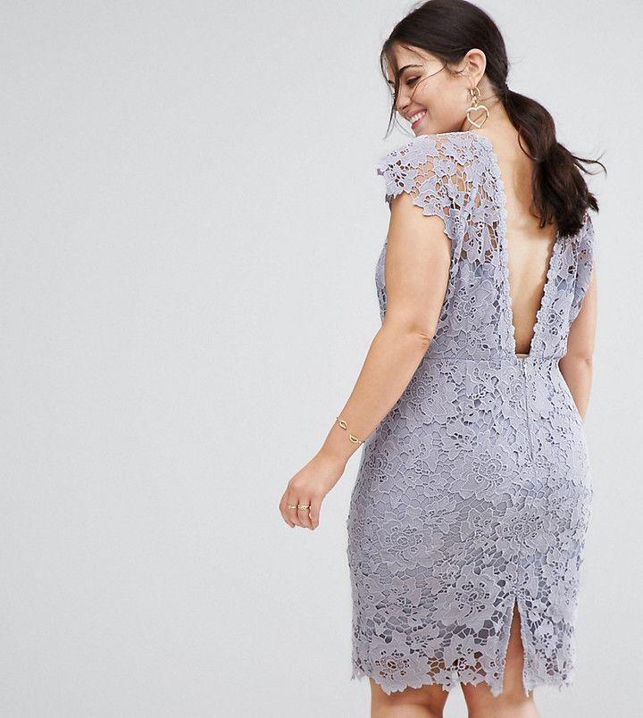 Paper Dolls Plus Midi Lace Dress with Scalloped Back | Crochet stuff ...