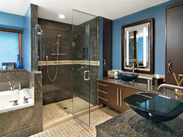 Awesome Blue And Brown Bathroom Ideas
