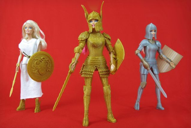 The Faire Play Battle Set by Jim Rodda is Made Up of Three Suits #3dprinting trendhunter.com