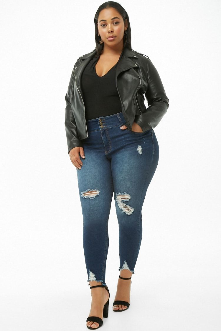 Plus Size High Rise Skinny Jeans Forever 21 Skinny Jeans Women S Plus Size Jeans Plus Size
