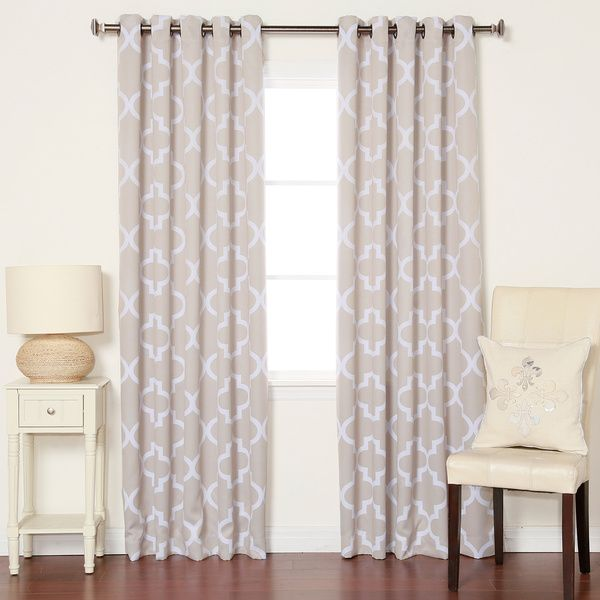 Moroccan Tile Room Darkening Grommet Top 84-inch Curtain Panel Pair - Overstock™ Shopping - Great Deals on Curtains