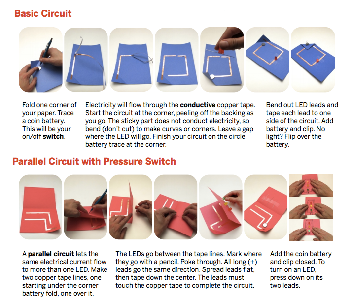 How To Make Electronic Circuits On Paper And Craft Materials Kithub Paper Circuits Circuit Electronics Circuit