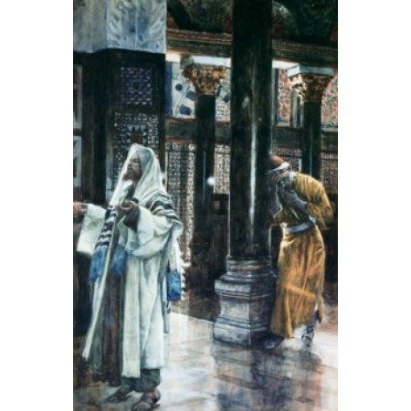 Pharisee and the Publican James Tissot (1836-1902French) Canvas Art - James Tissot (24 x 36)