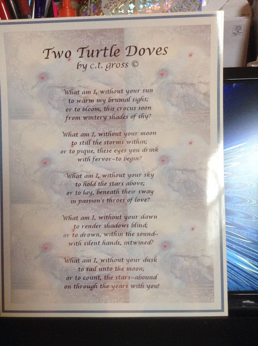 Two Turtle Doves Poem Poetry For The Soul Poems