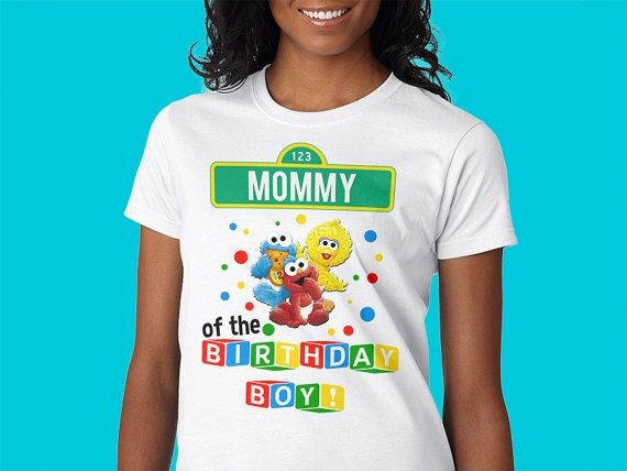 c57e3d80f Custom Birthday Shirt Sesame Street st Custom by BirthdayBigKidz ...