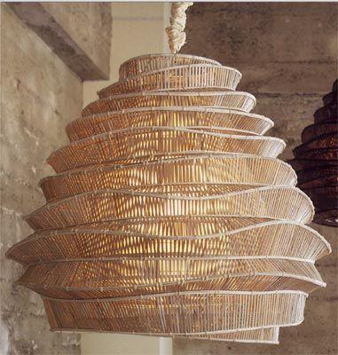 Bamboo Wicker Floor Lamp