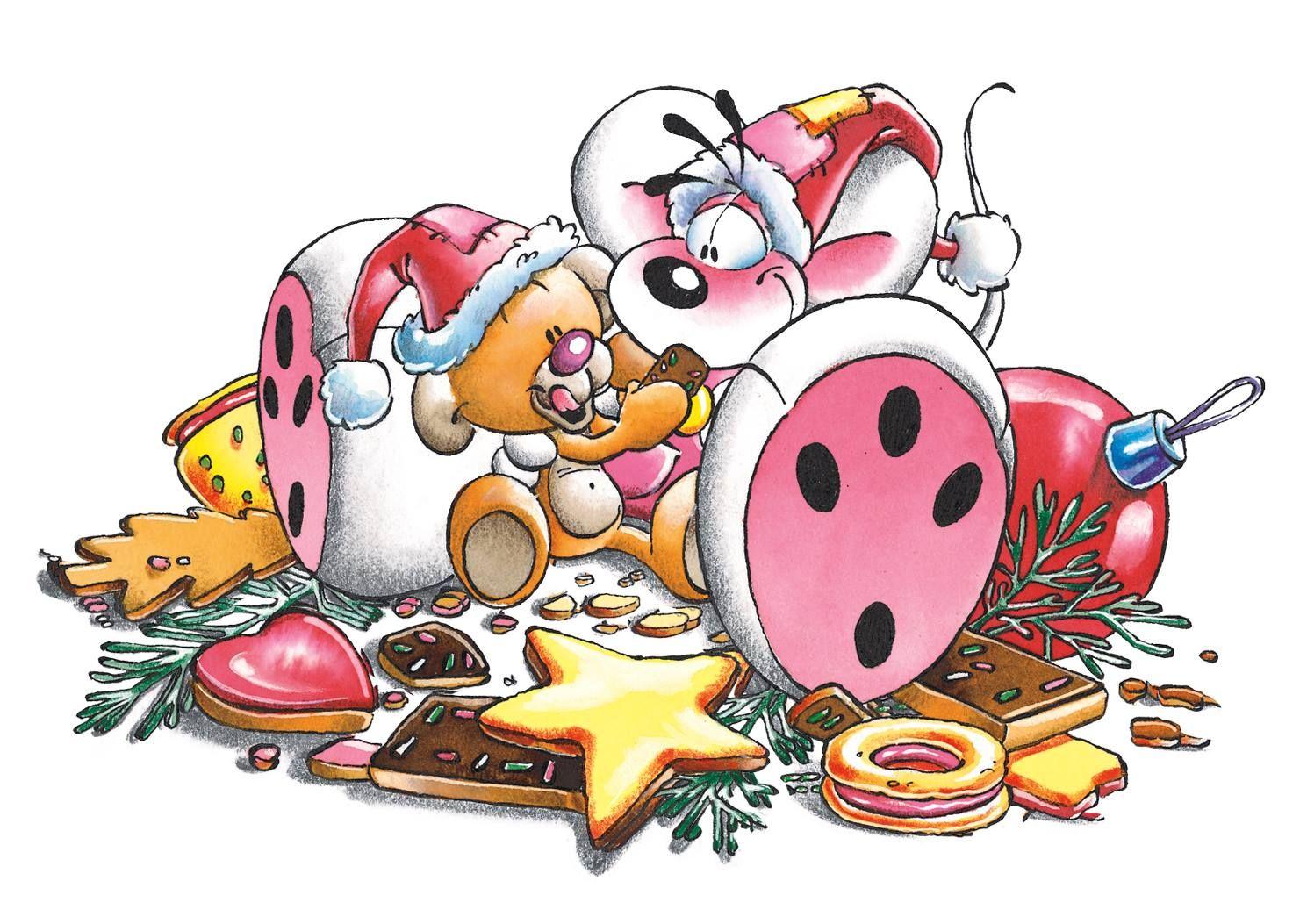 Puzzelstukjes Met Diddl En Oplossing Diddl Kerst Beer Koekjes Orig Plaatje Diddl Kerst Koekjes Zeichentrick Winter Weihnachten Diddel Maus