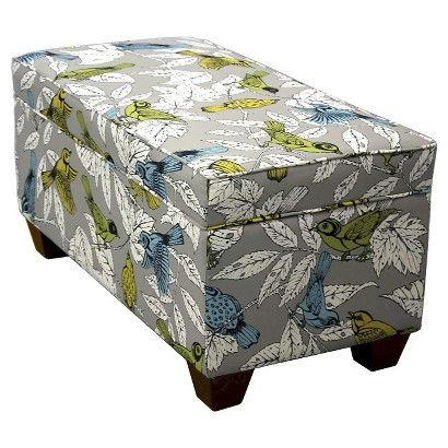 Seedling by Thomas Paul Storage Ottoman - Treetops Gray