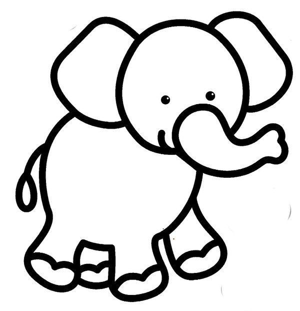 Coloriage Petits Coloriage Animaux Coloriage Coloriage Elephant