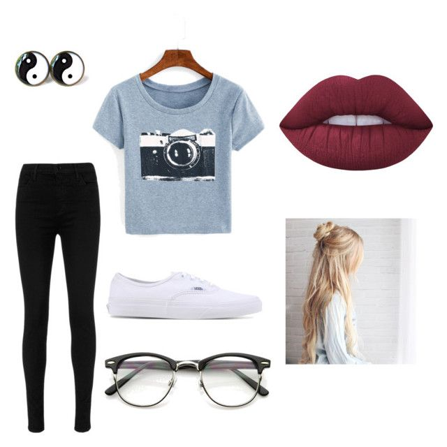 """""""Hipsterish."""" by lukecneal ❤ liked on Polyvore featuring J Brand, Vans and Lime Crime"""