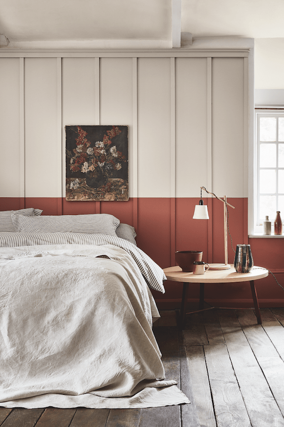 Colours of England by Little Greene Bedroom red, Half