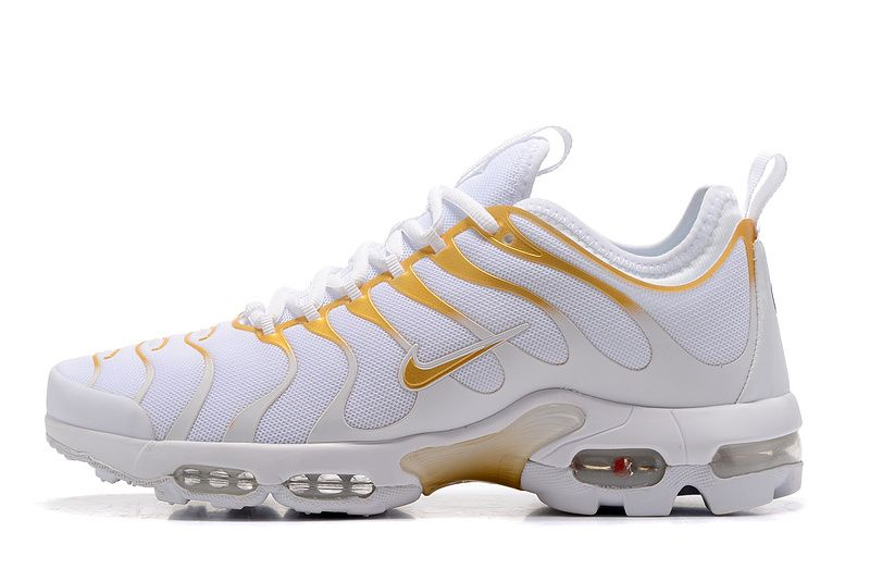pretty nice dce15 13bfb Nike Air Max TN White Yellow Unisex Running Shoes 898015-013 - Zmshoes