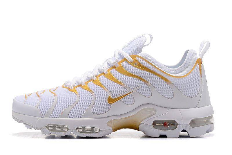 nike air max plus white yellow