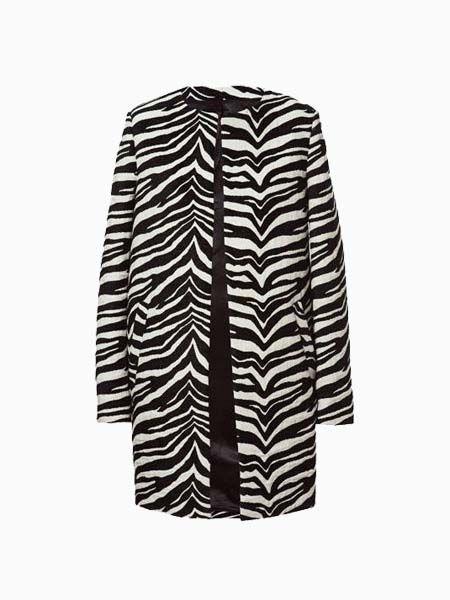 In Abrigos LonglineWishlist Jacket Fashion Stripe Zebra dCerWoxB