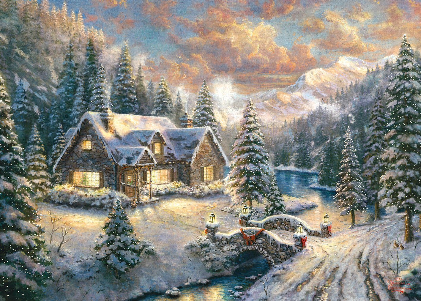 Thomas Kinkade: High Country Christmas | Weihnachtsbilder in 2018 ...