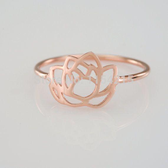 Lotus Flower Ring Simple Dainty Jewelry Lotus Flower Ring