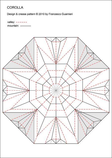 Corolla Crease Pattern White Side