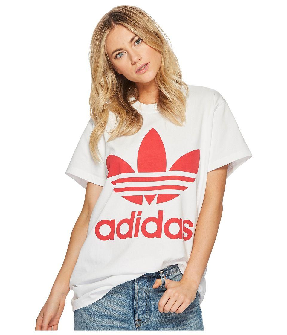 adidas Originals Big Trefoil Tee Women's T Shirt White