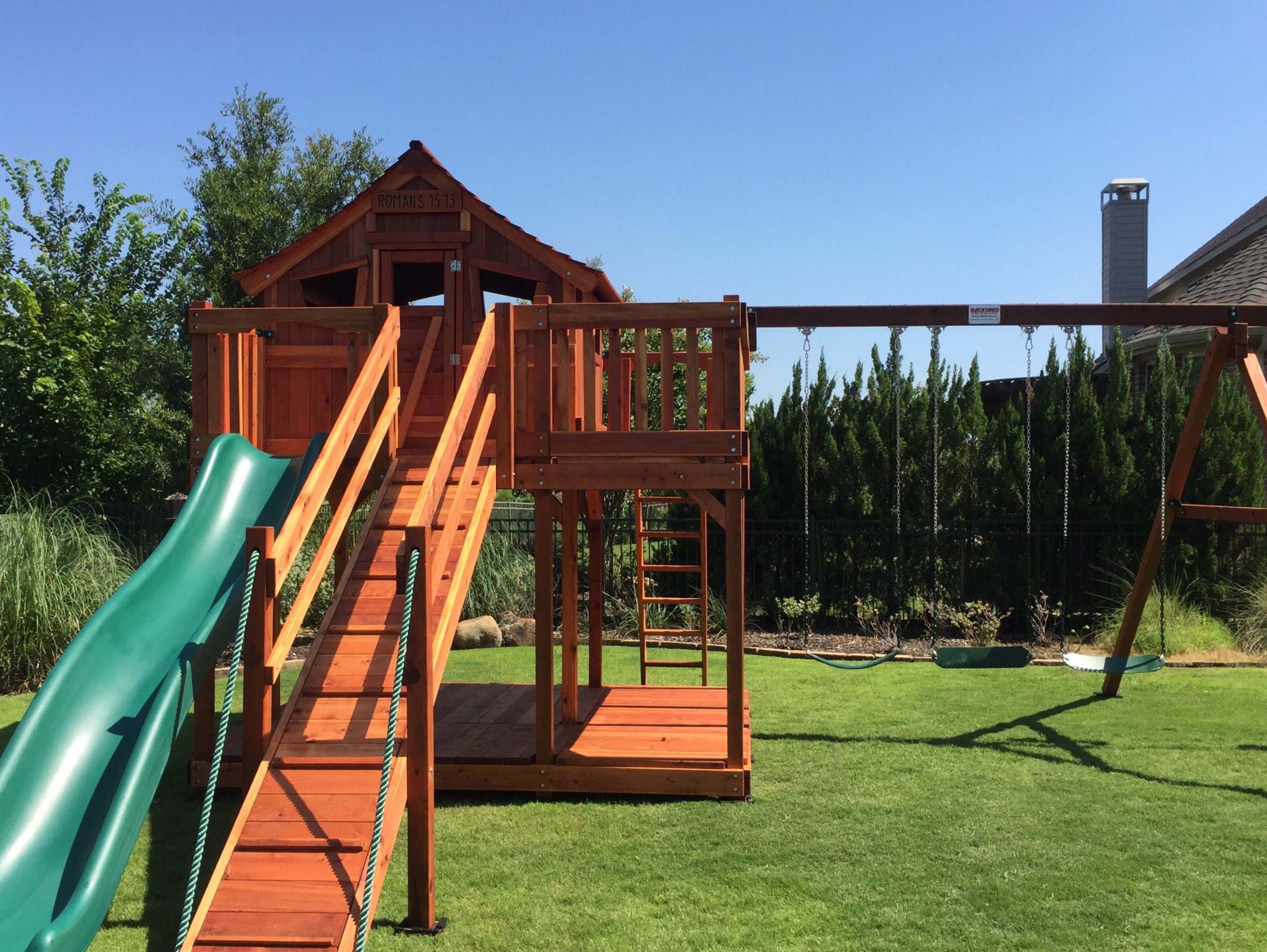 fort stockton playset with wrap around porch the perfect backyard