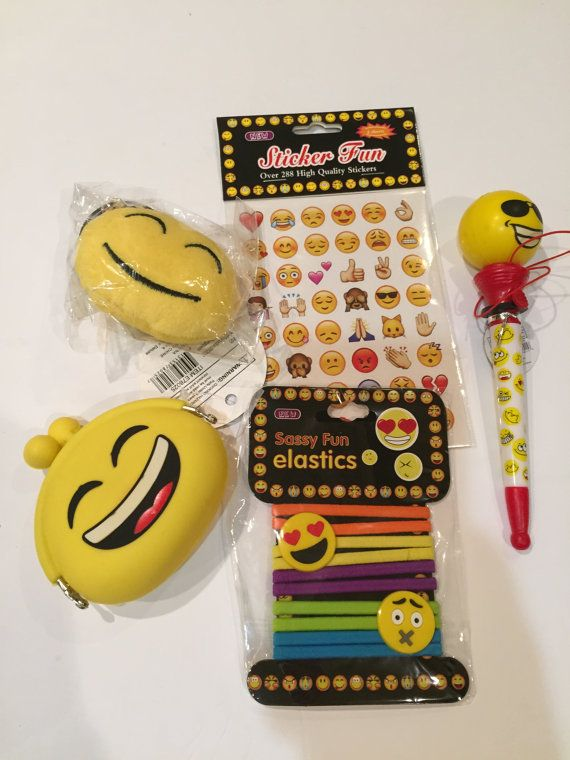 Emoji Party Favor Bag Birthday By Emojiqueenbyv