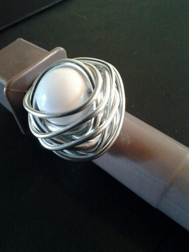 "Ring aluminium ""white ball"""