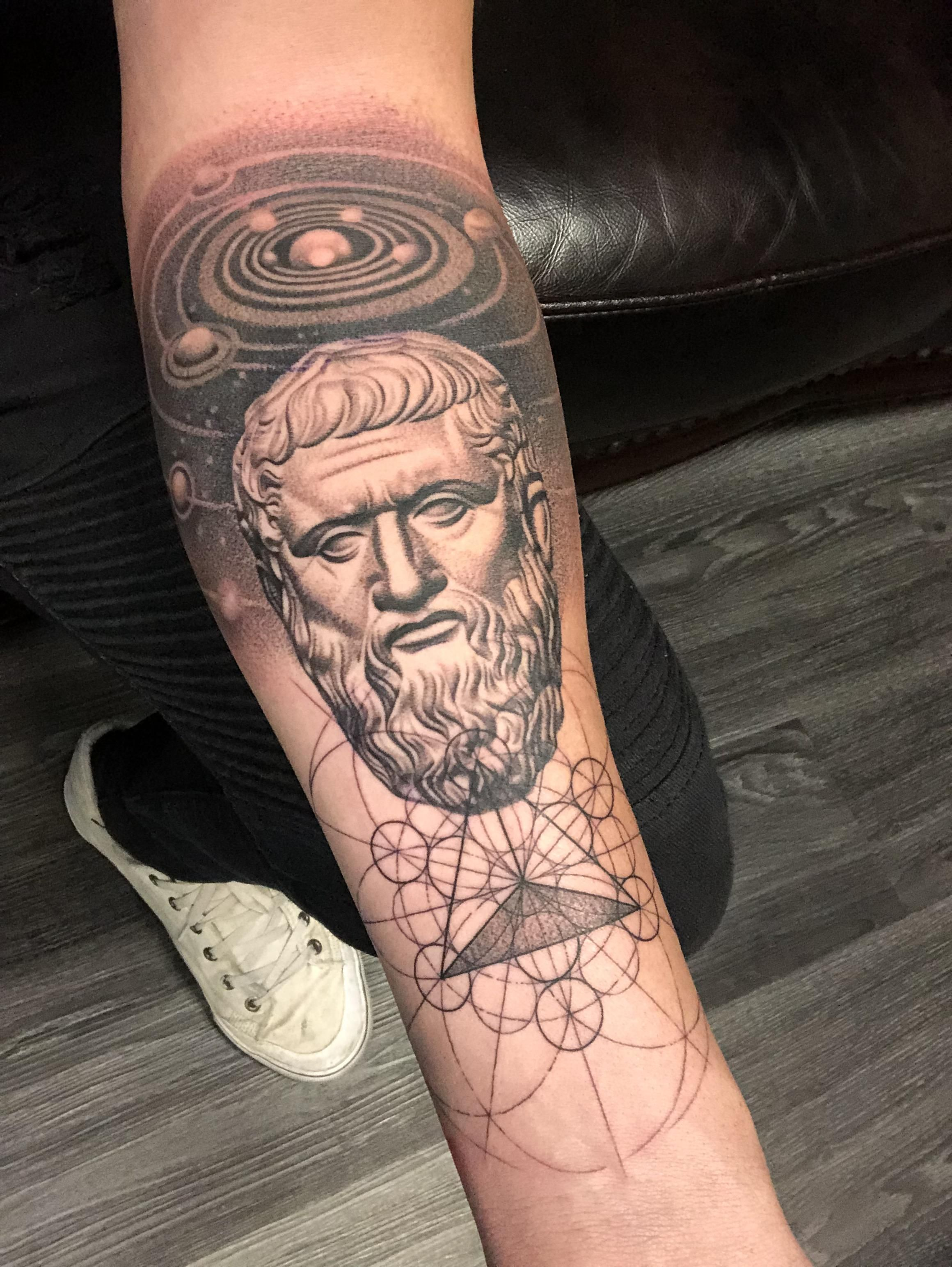 Plato By Kiljun From South Korea Done At Seven Tattoo Studio In Las Vegas Nevada Tattoos Tattoo Studio Tattoo Las Vegas