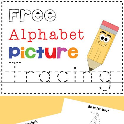 Free Alphabet Picture Tracing Printables