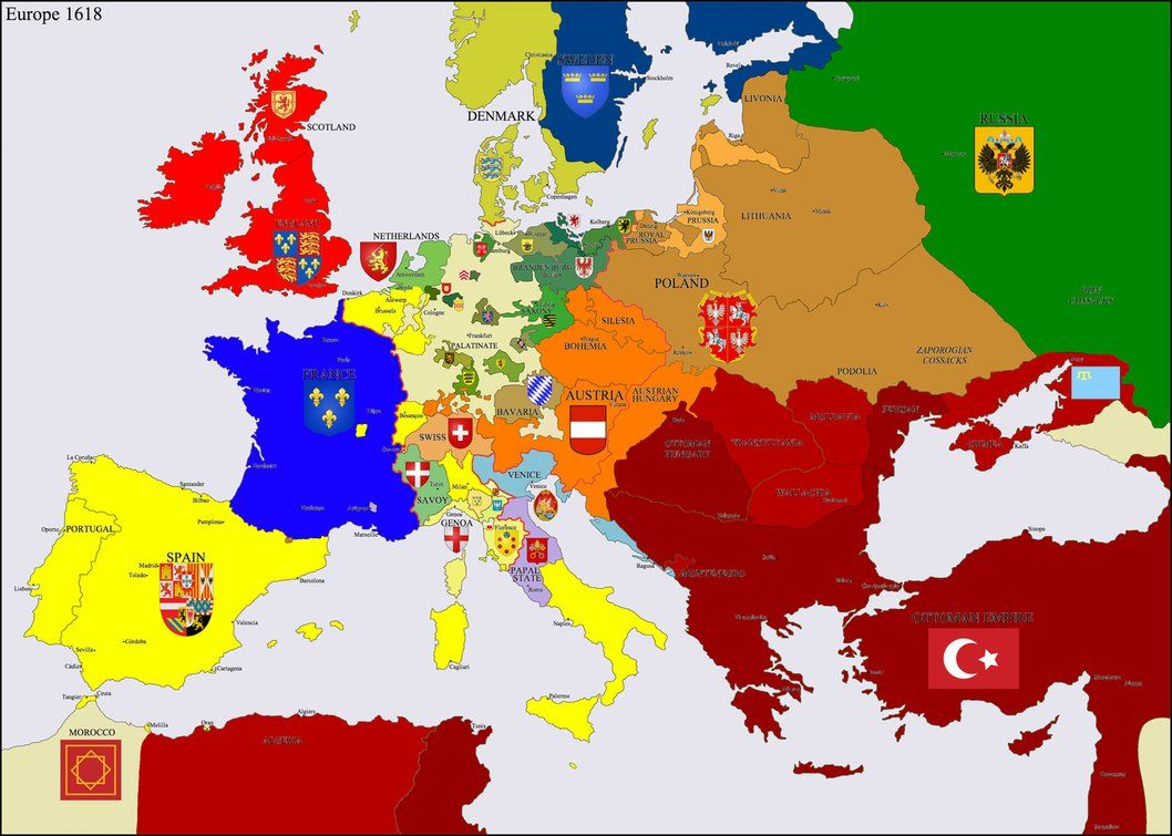 Europe 1618 by Hillfighter on DeviantArt | Maps | Europe, Map, History