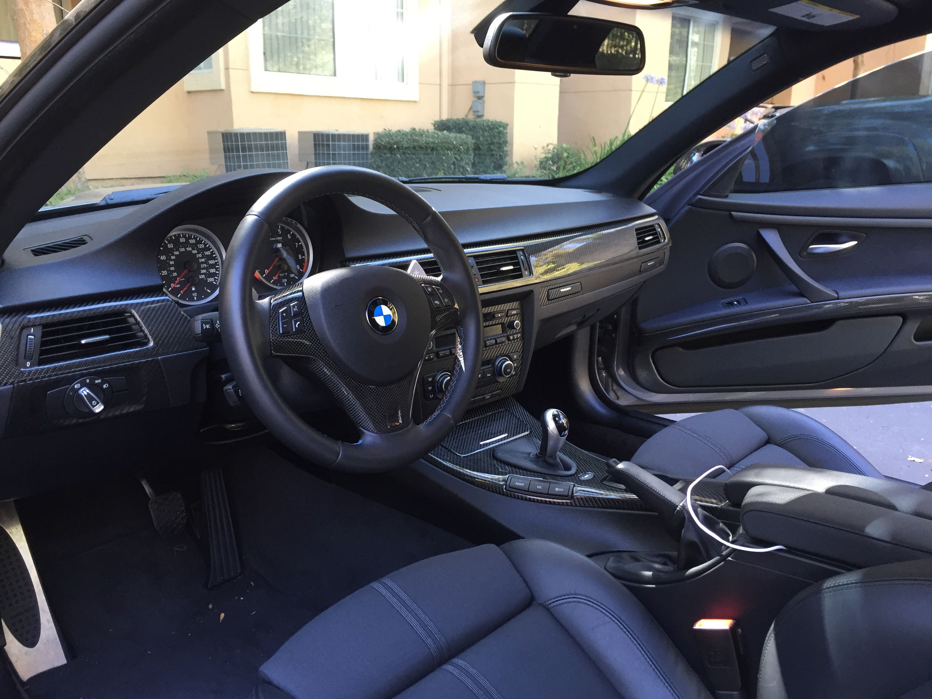 Carbon Fiber Interior Trim Kit On A Bmw E92 M3 Interior Trim