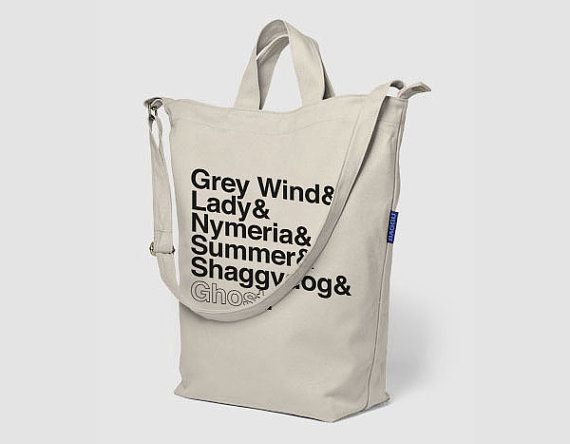 A Game of Thrones Direwolves Canvas Tote Bag by FencingNArchery, $38.00