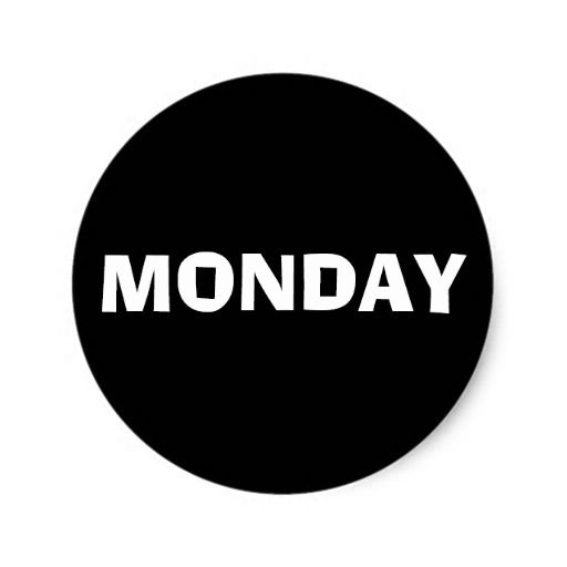 Monday Ad Lib Black Sticker by Janz