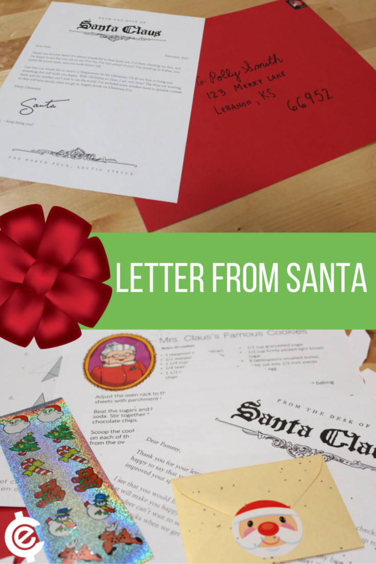 "Your kid will squeal with delight when they receive a personalized letter from Santa, complete with snowflake crafts, stickers, and ""reindeer"" food."