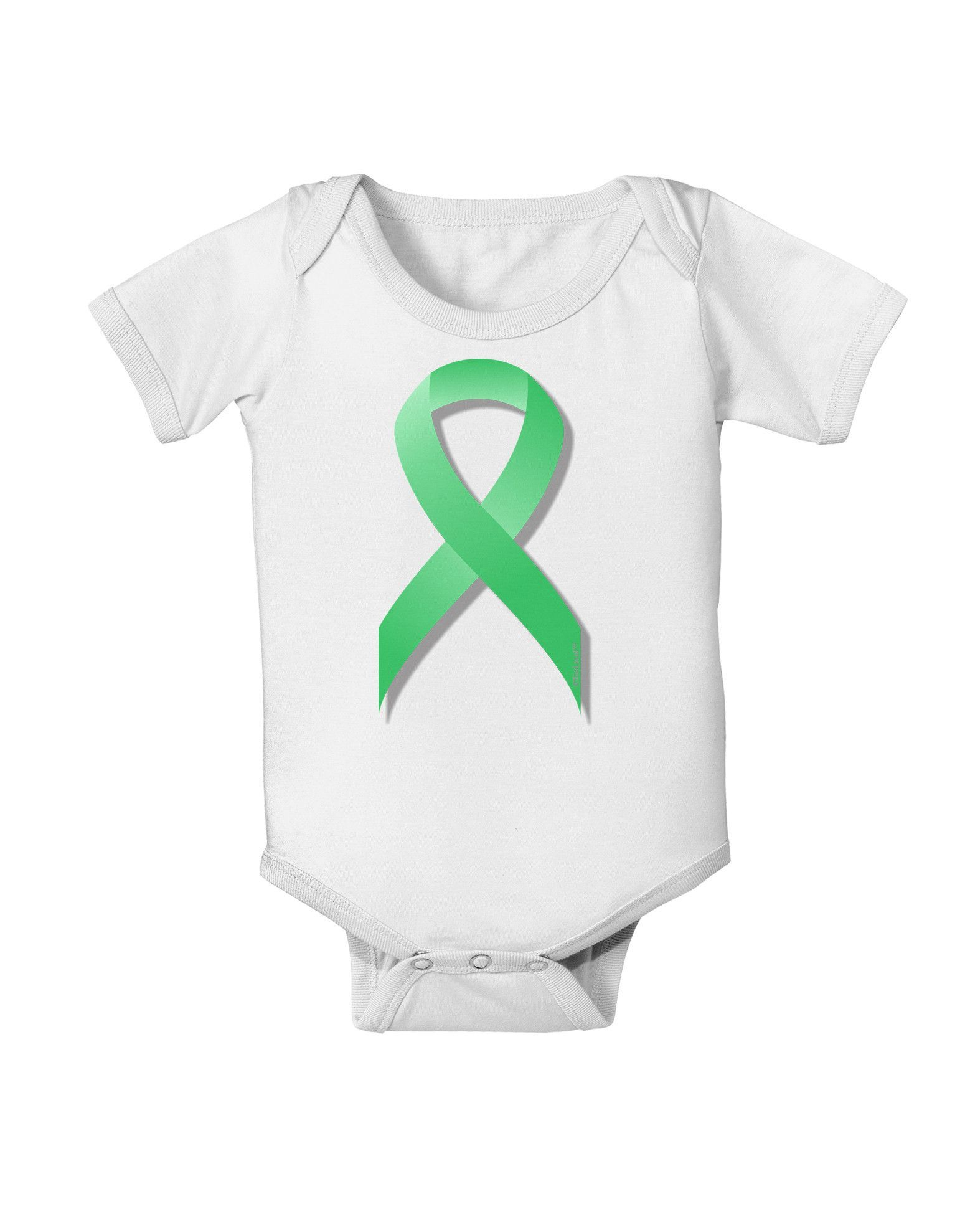 TooLoud Celiac Disease Awareness Ribbon - Light Green Baby Romper Bodysuit
