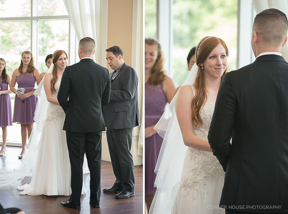 Lake Mary Events Wedding - Corner House Photography - Orlando Wedding Photographer- bride and groom exchanging vows