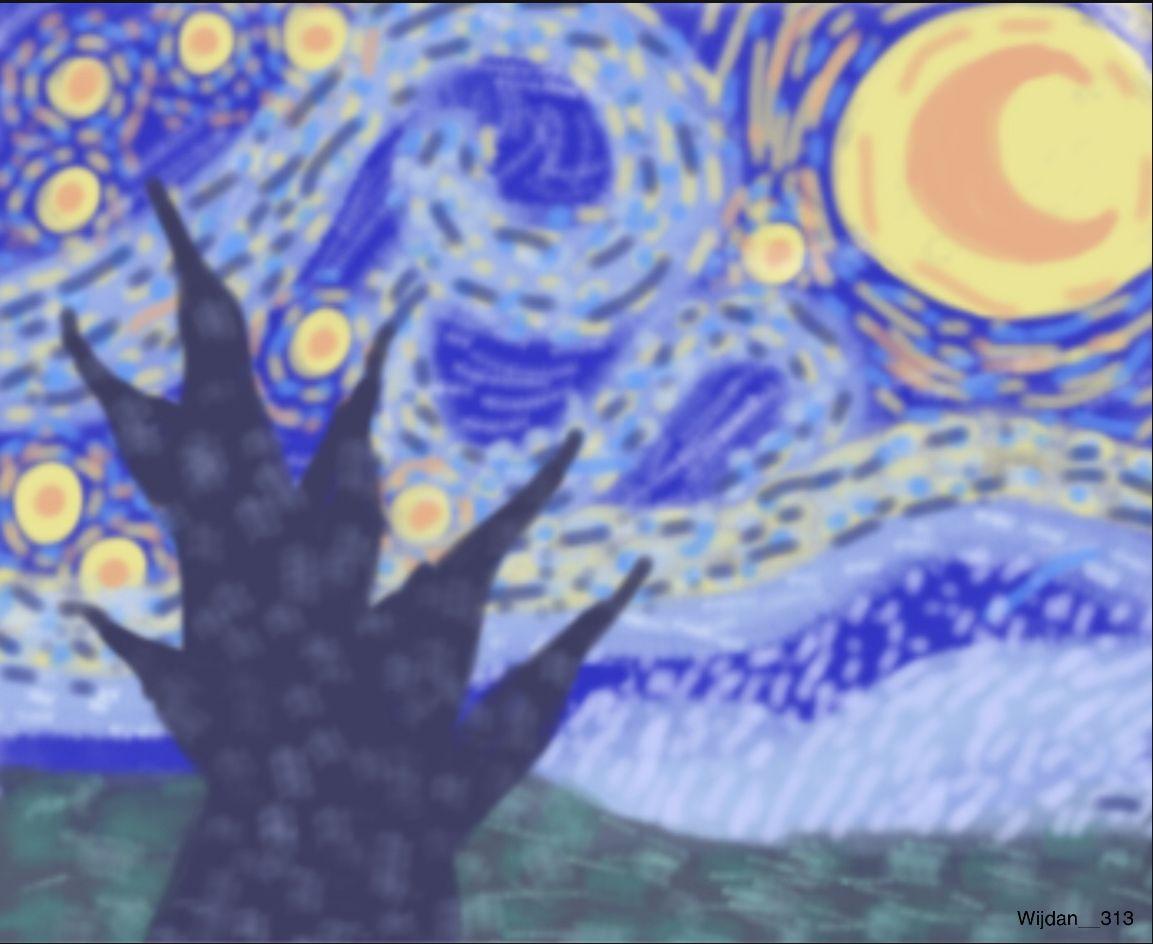 ليلة النجوم Starry Night Starry Artwork