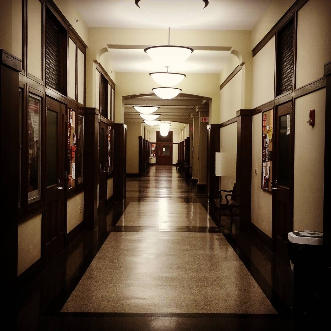 huythinh.nguyen: Baldwin Hall at night... No more work for today!!! #nomorework  #break  #nighttime