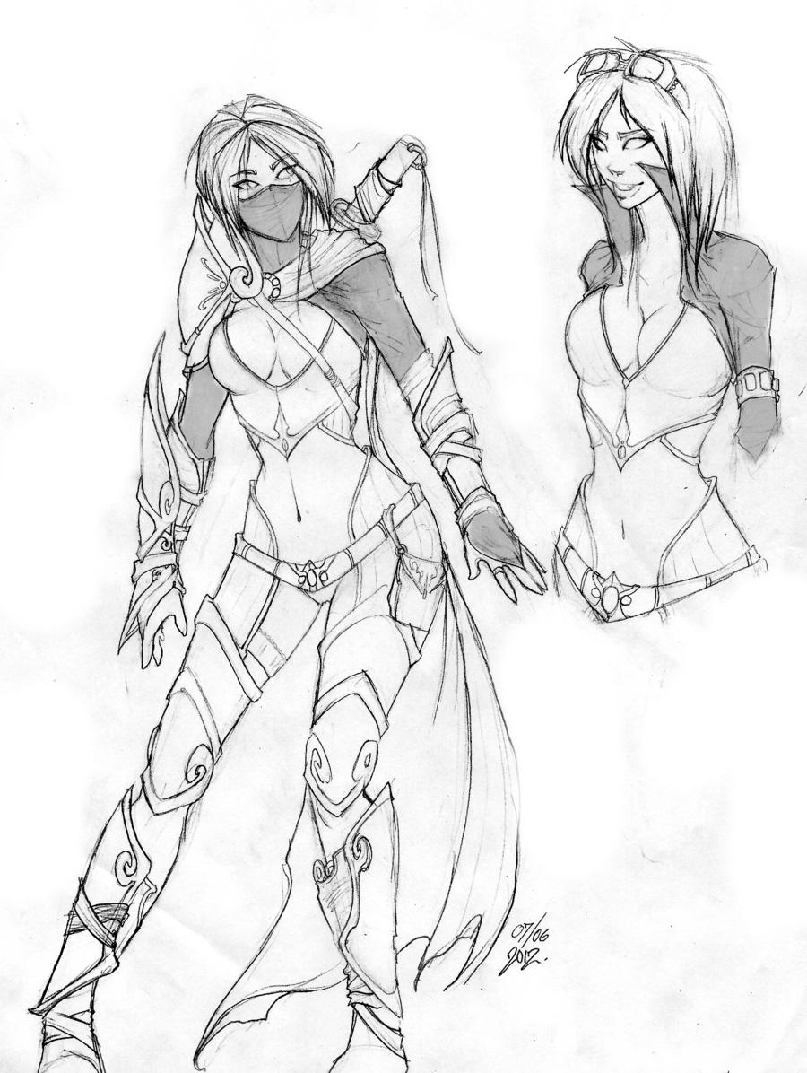 Female Neko Assassin By Adventdeo On Deviantart Female Assassin Cartoon Drawings Sketches Cartoon Drawings Of Animals