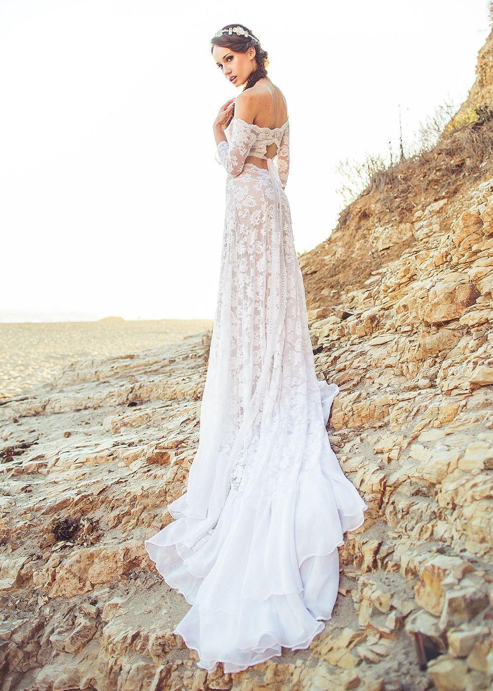 Lennox chiffon dress hippy wedding dresses hippie weddings and