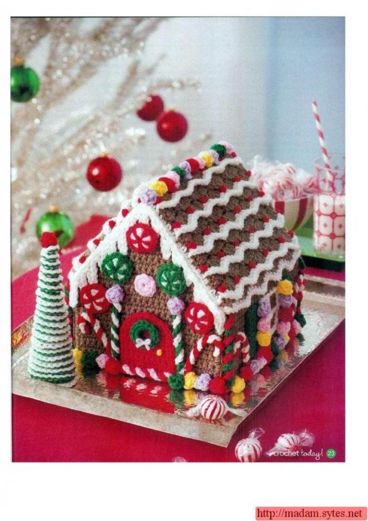 gingerbread house crochet pattern | haaksteken | Pinterest