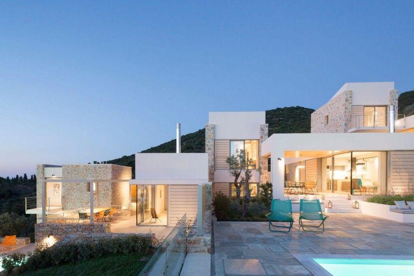 hhh architects designs a private villa on skiathos greece - Greek Modern Home Architecture Design