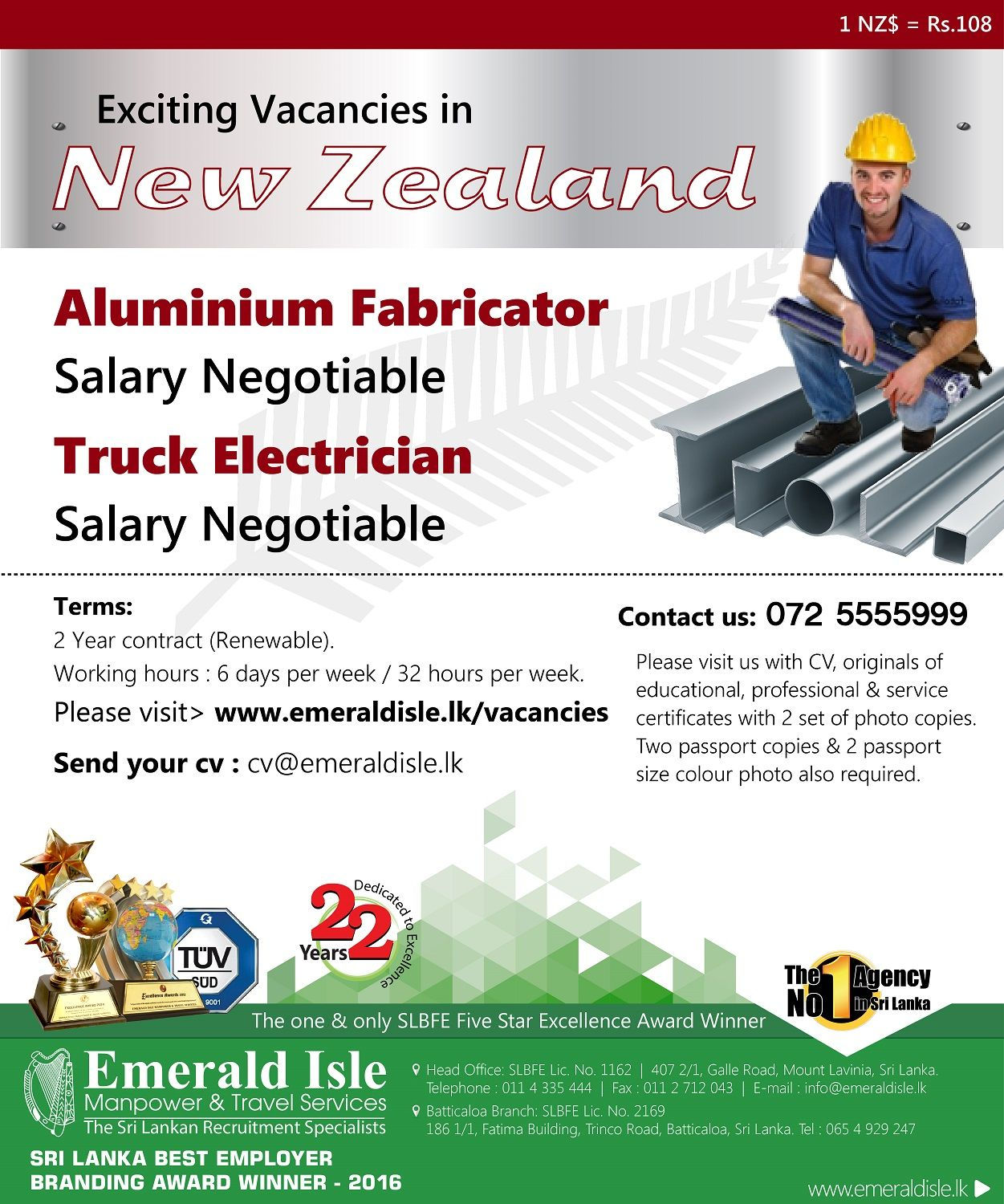 Pin by Emerald Isle Manpower & Travel Services on Foreign Vacancies