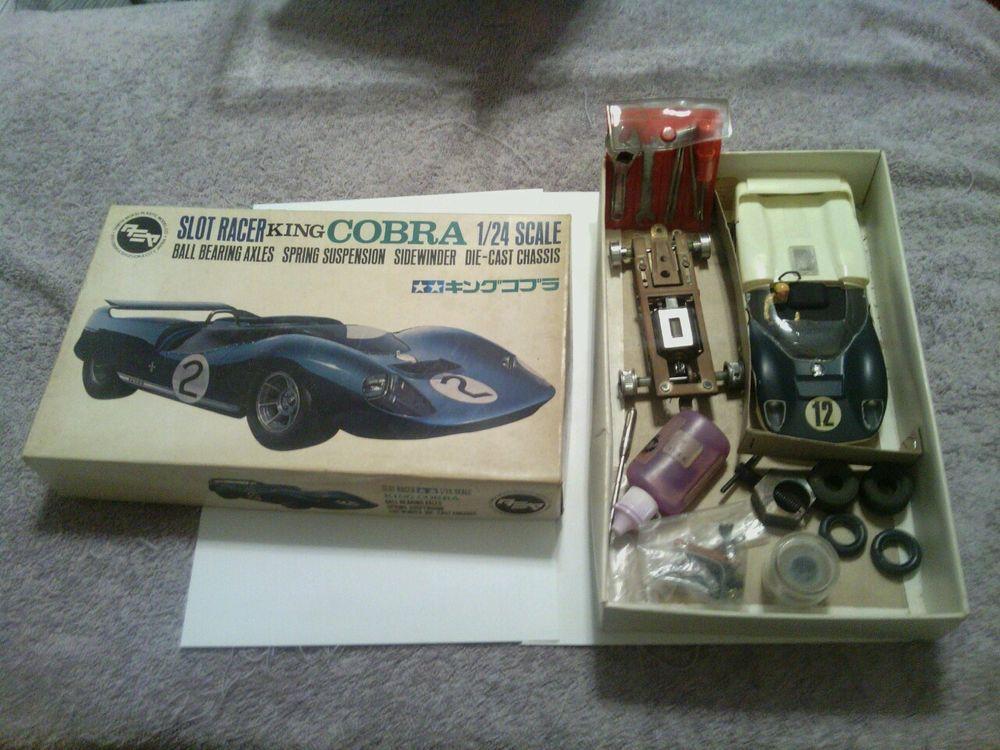 Tamiya 1/24 King Cobra Original Vintage Slot Car, tools, 2 chassis ...